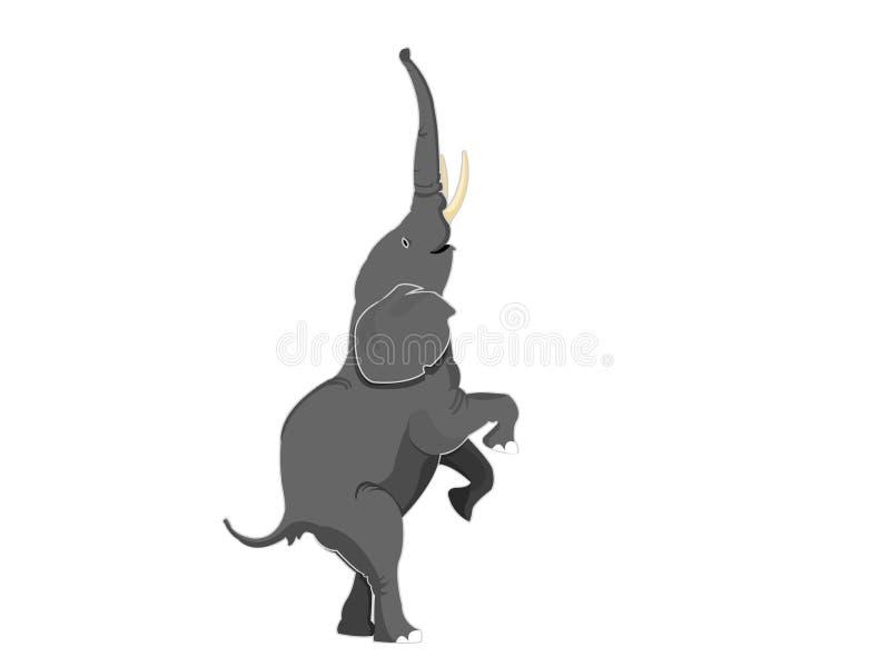 Olifant die zich rechtdoor benen bevindt vector illustratie
