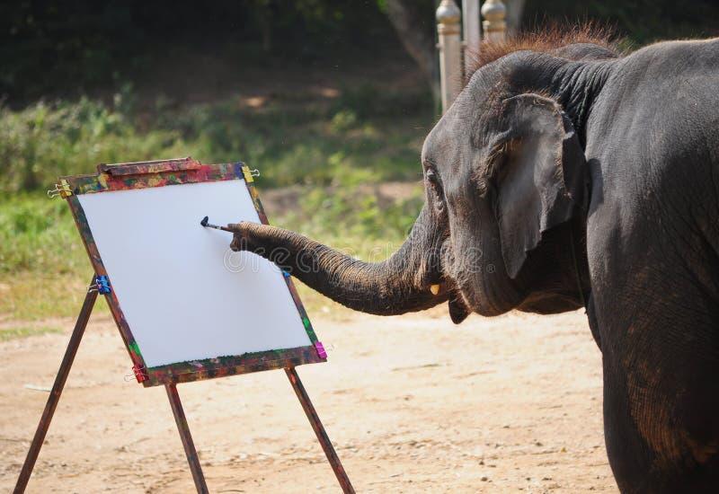 Olifant en het schilderen royalty-vrije stock foto's