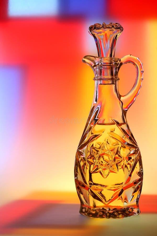 Olijfolie met Abstracte Achtergrond stock fotografie