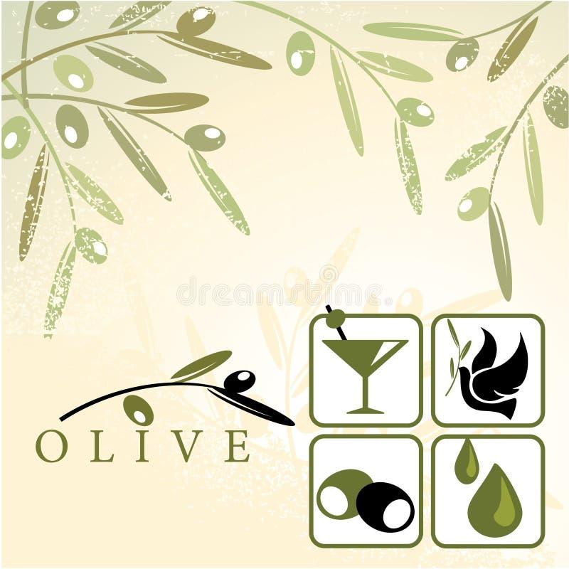 Olijven stock illustratie