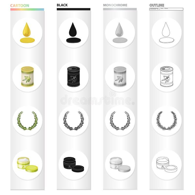 Olijven, bes, fruit en ander Webpictogram in beeldverhaalstijl Industrie, ingrediënten, boterpictogrammen in vastgestelde inzamel vector illustratie