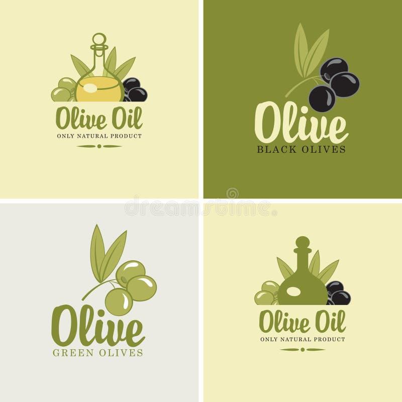 Olijven en olie vector illustratie
