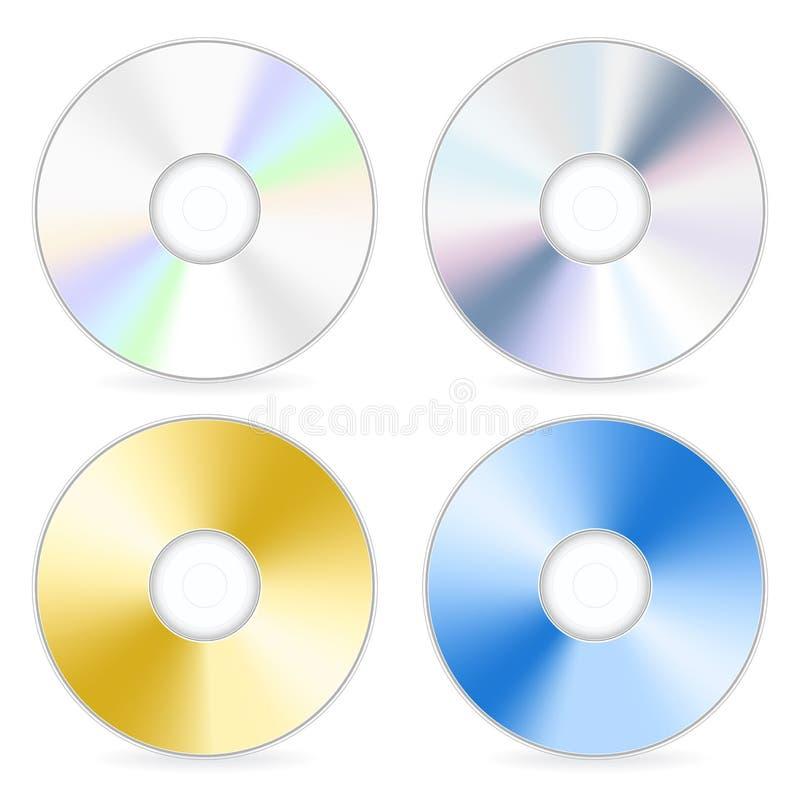 olik cd vektor illustrationer