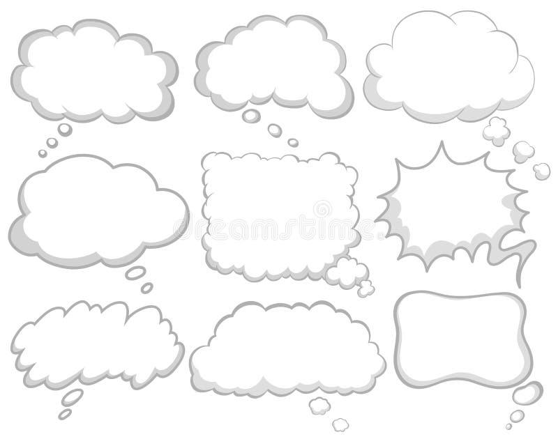 Olik design av dröm- bubblor vektor illustrationer