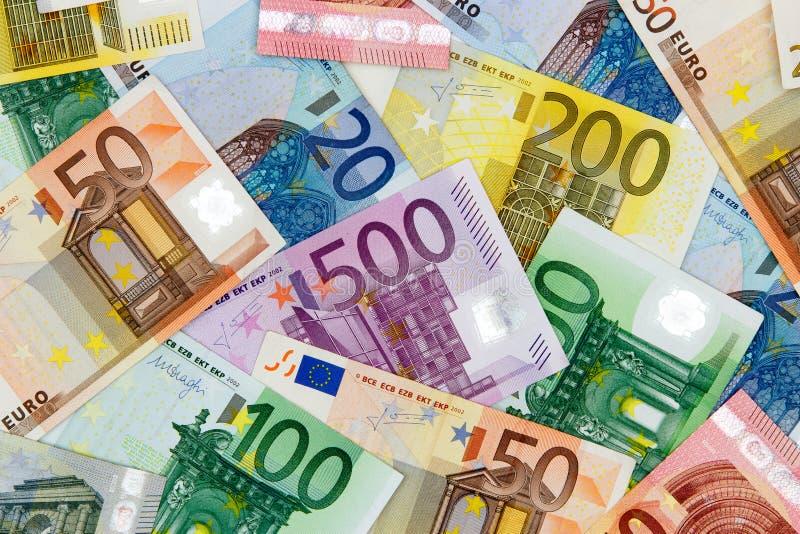 olik euro för sedlar royaltyfri bild