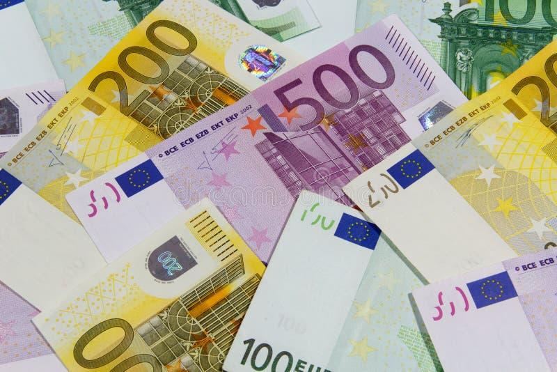 olik euro för sedlar royaltyfria foton