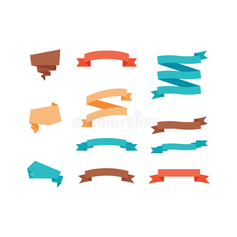 Olik färgrik banduppsättning vektor illustrationer