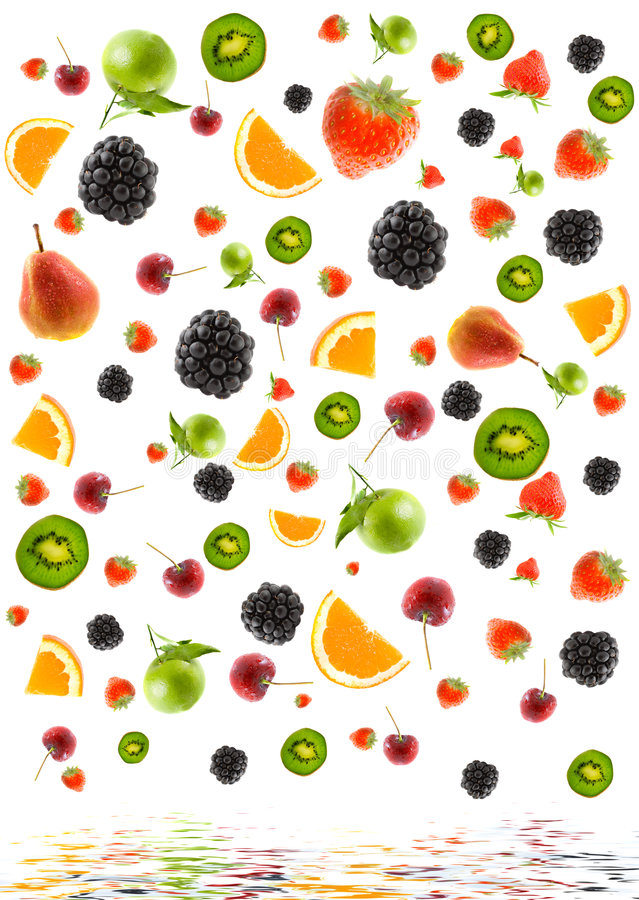 olik fruktstruktur royaltyfri bild