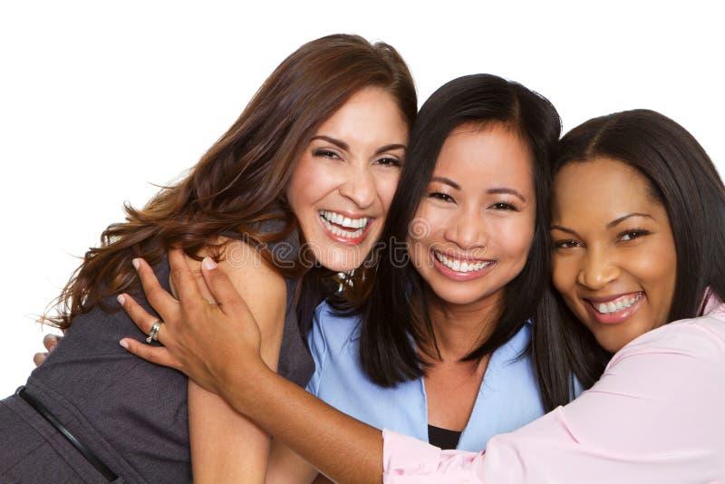 Olik grupp av affärskvinnor arkivfoto