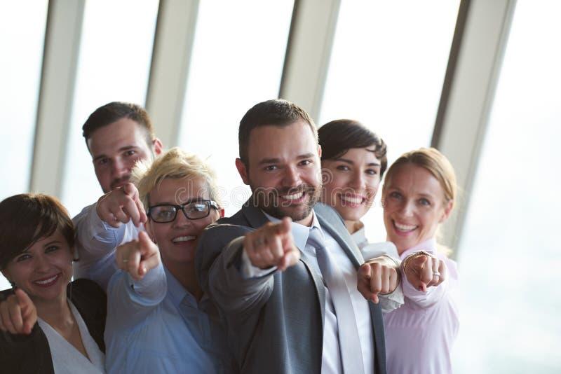 Olik grupp för affärsfolk royaltyfria bilder