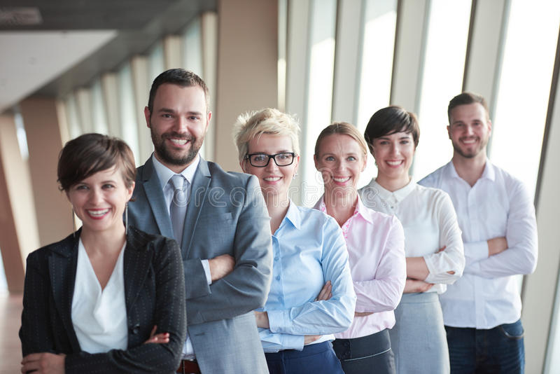 Olik grupp för affärsfolk royaltyfri foto