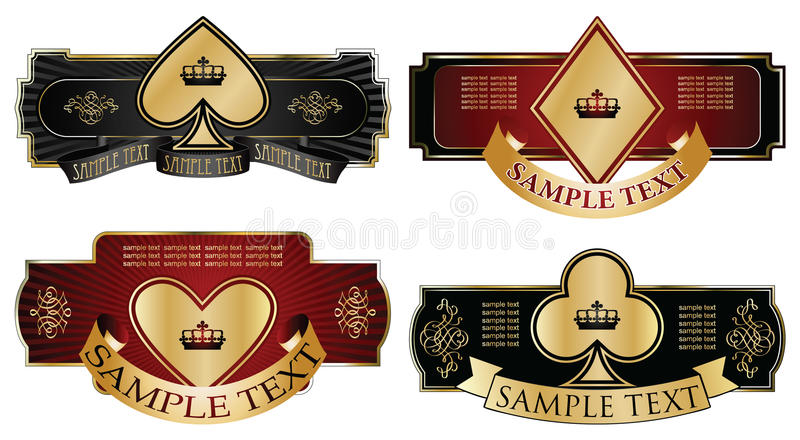 olik inramning guld märker ämnen royaltyfri illustrationer