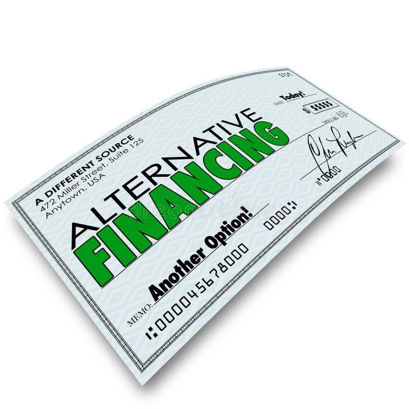 Olik källa B för alternativt för finansieringkontrolllån lån för pengar vektor illustrationer