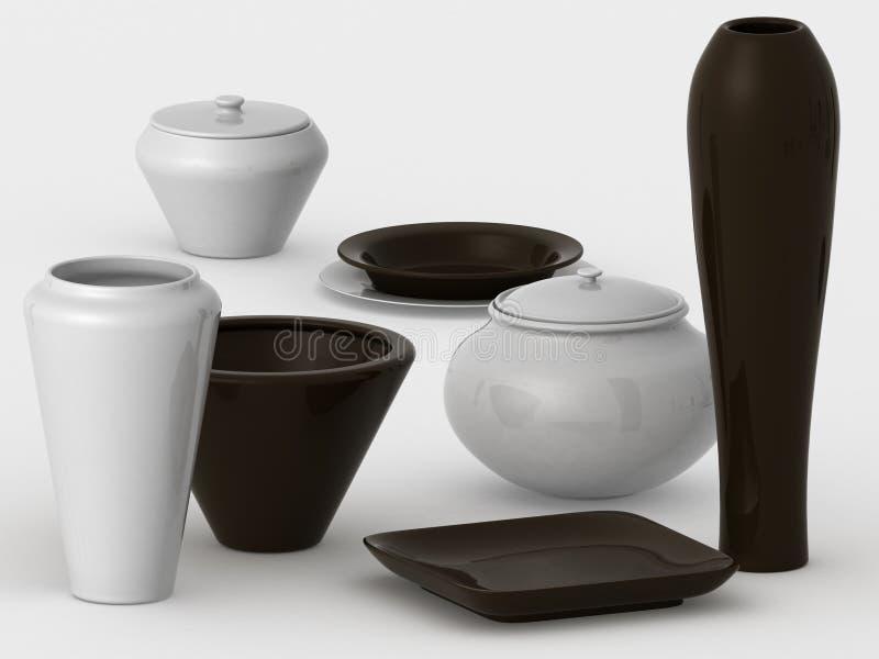 olik keramik vektor illustrationer