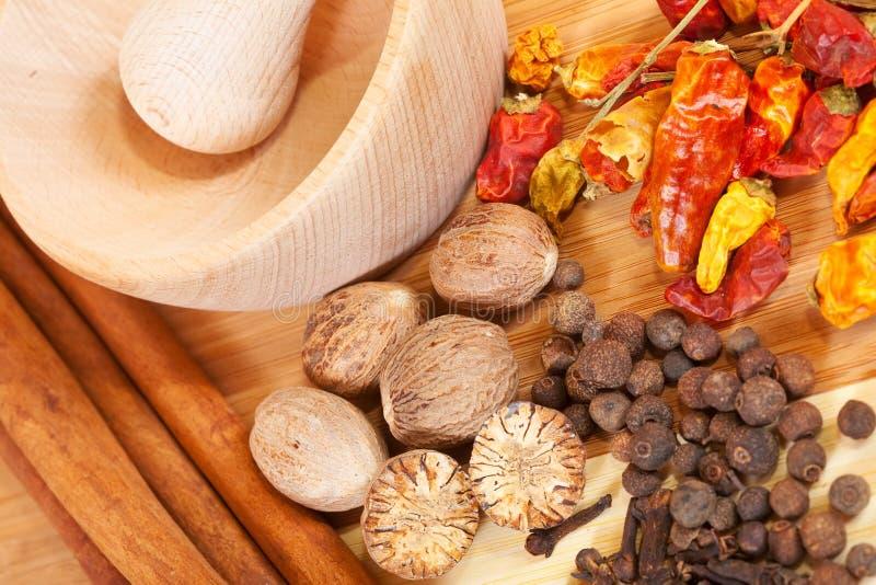 olik naturlig spiciness arkivbild