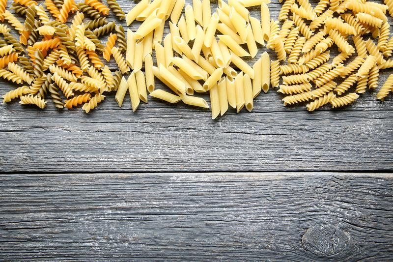 Olik okokt pasta royaltyfria bilder