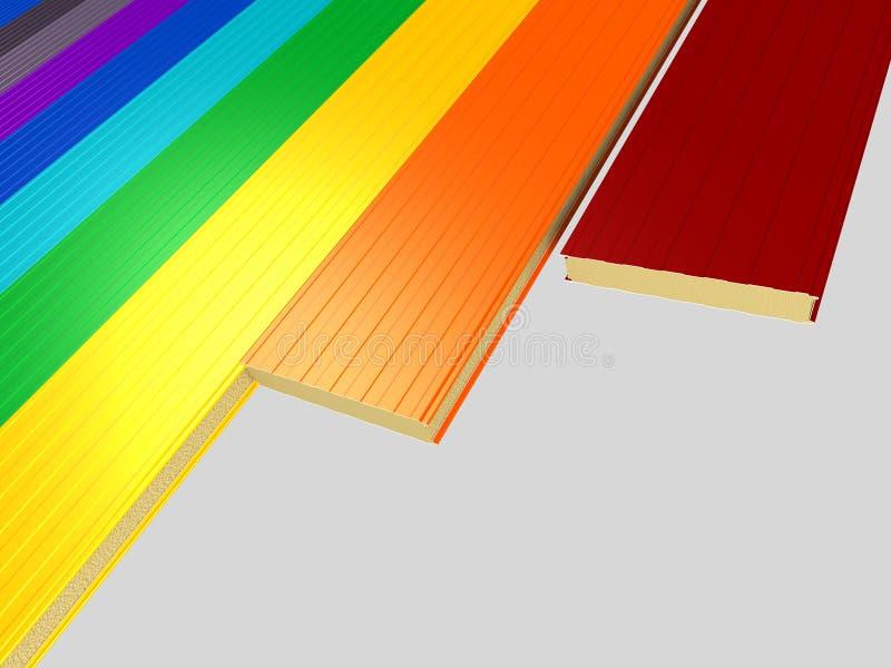 olik panelsmörgås för färg vektor illustrationer