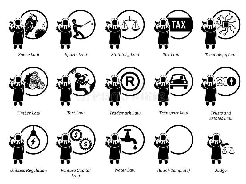 Olik typ av lagar Del 7 av 7 vektor illustrationer