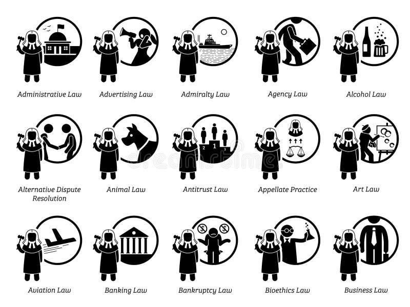 Olik typ av lagar Del 1 av 7 royaltyfri illustrationer