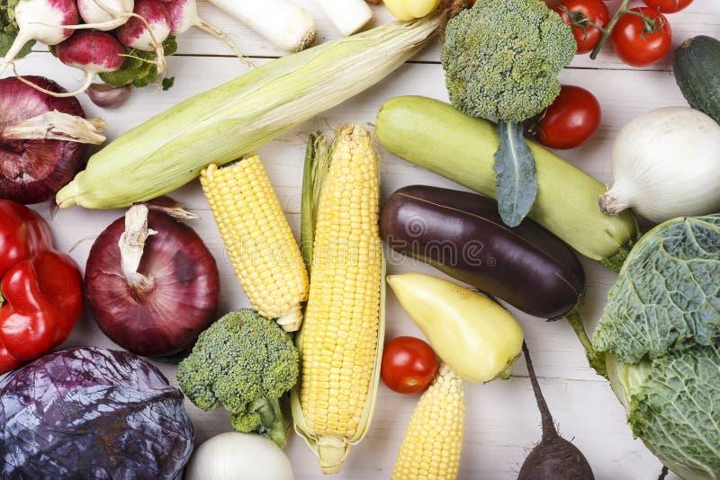 Olik ung grönsakuppsättning arkivbild