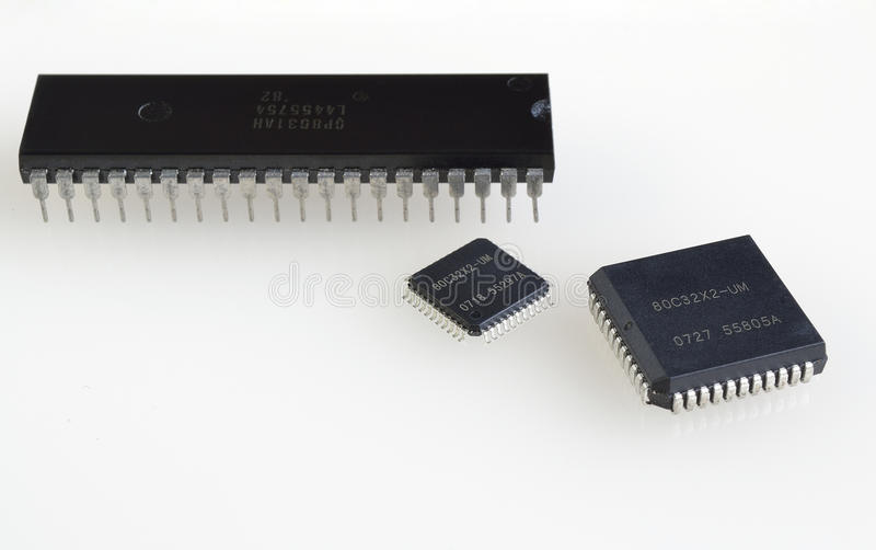 Olik utveckling av processorer arkivbilder
