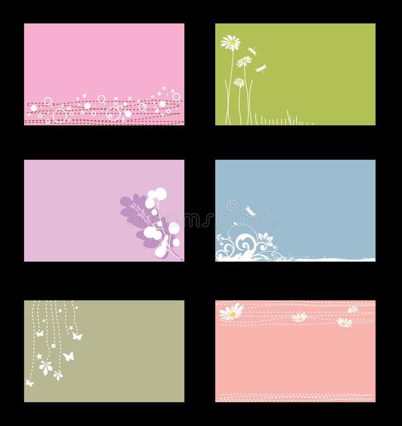 olika affärskort stock illustrationer