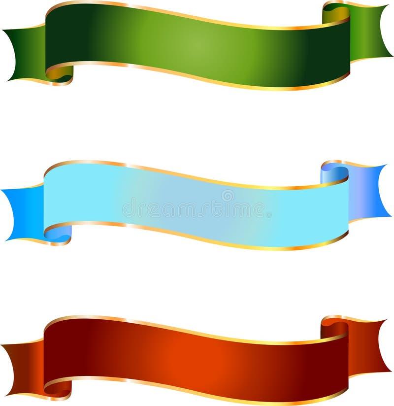 Olika baner för design i vektor stock illustrationer