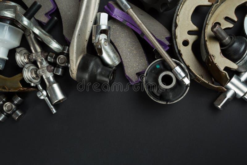 Olika bildelar och hjälpmedel fotografering för bildbyråer