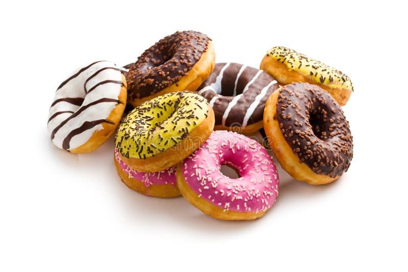 Olika donuts arkivbilder