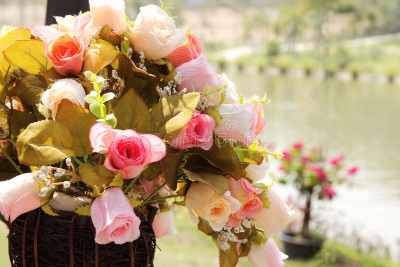 Olika färger 1 för konstgjord ros royaltyfri bild