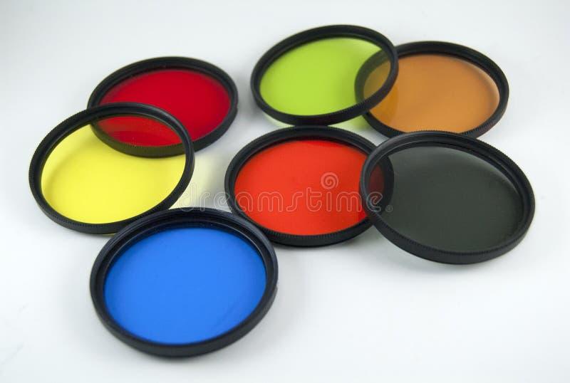 Olika filter för fotografisk lins royaltyfri fotografi
