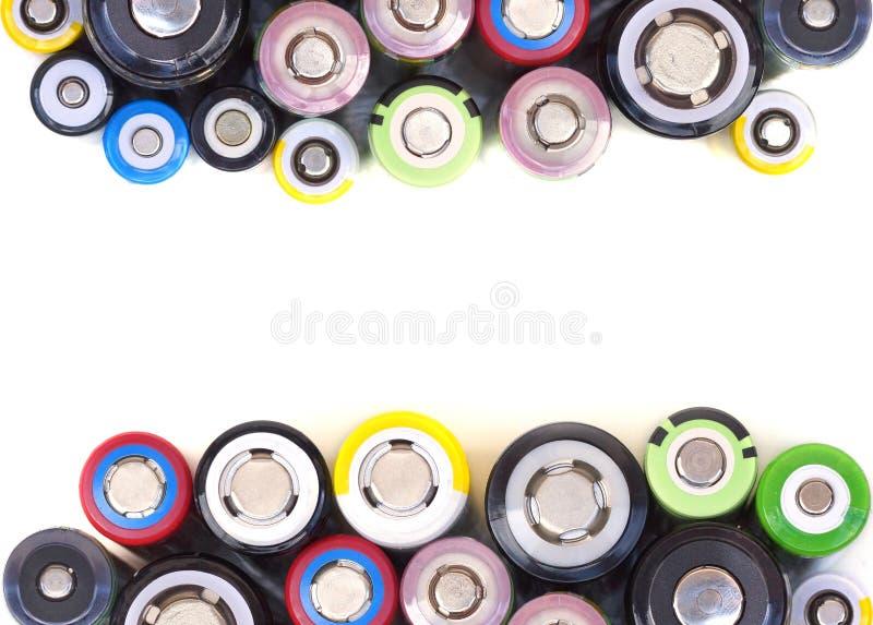 Olika format av batterier för litiumjon royaltyfri bild