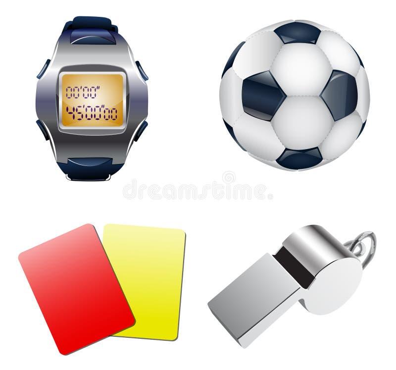 Olika fotbollsymboler royaltyfri illustrationer