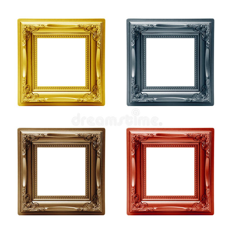 Olika fyra föreställer inramar arkivbild