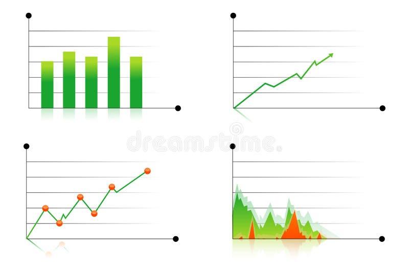 olika grafer för affär royaltyfri illustrationer