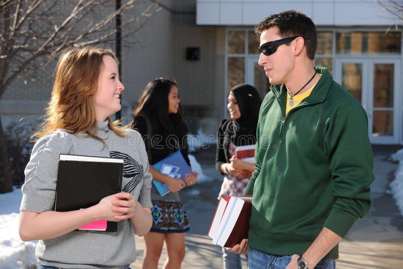 olika gruppdeltagare för högskola royaltyfri foto