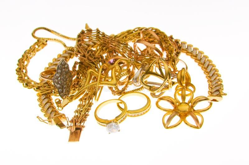 olika isolerade smycken royaltyfria foton