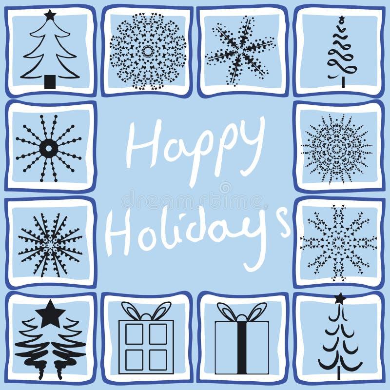 Download Olika juldesigner vektor illustrationer. Illustration av snowflake - 993443