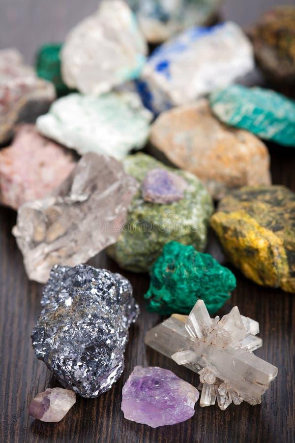 olika mineraler fotografering för bildbyråer