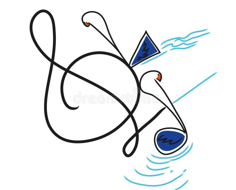Olika musikanmärkningar med olika bakgrunder stock illustrationer
