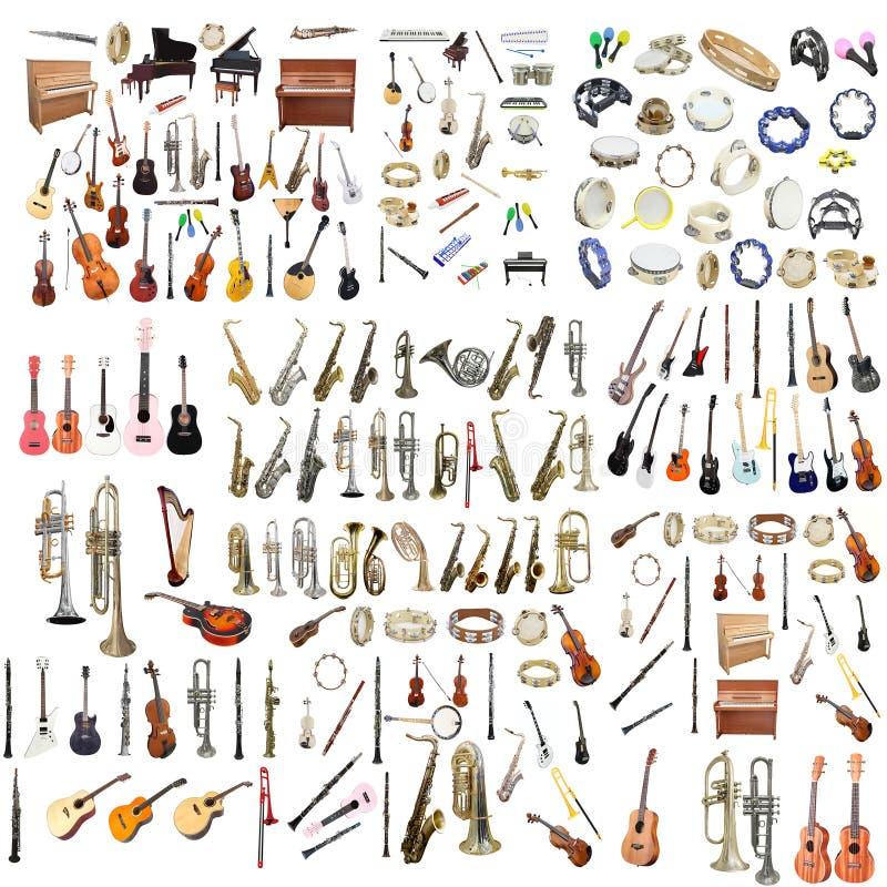 Olika musikinstrument royaltyfria foton