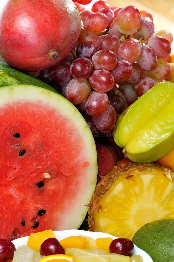 olika nya frukter royaltyfria foton
