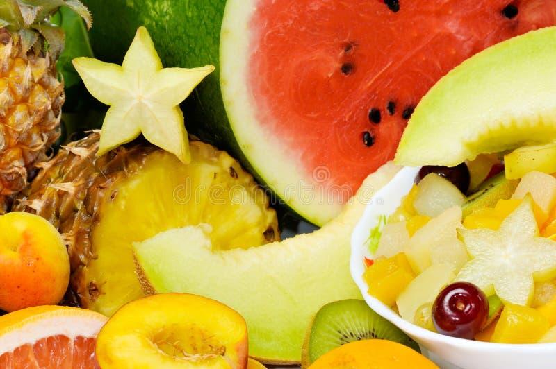 olika nya frukter arkivbild