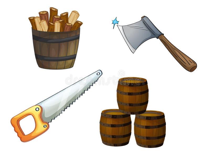 Olika objekt stock illustrationer