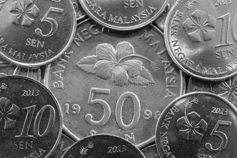 Olika pengar från Malaysia royaltyfria foton