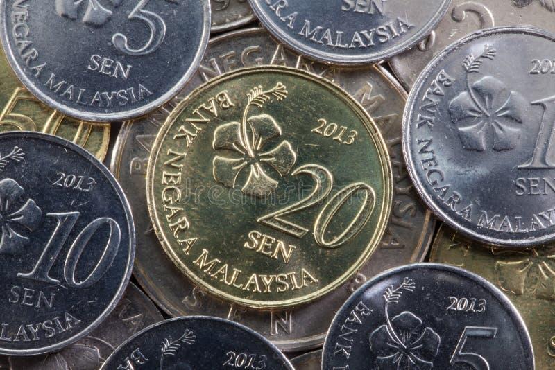 Olika pengar från Malaysia royaltyfri bild