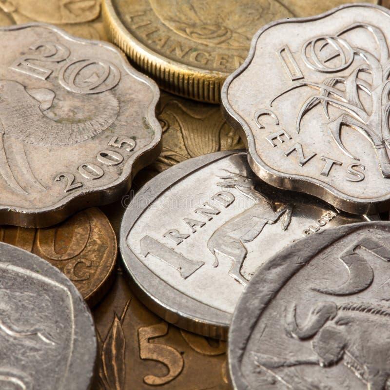 Olika pengar från Sydafrika royaltyfria bilder