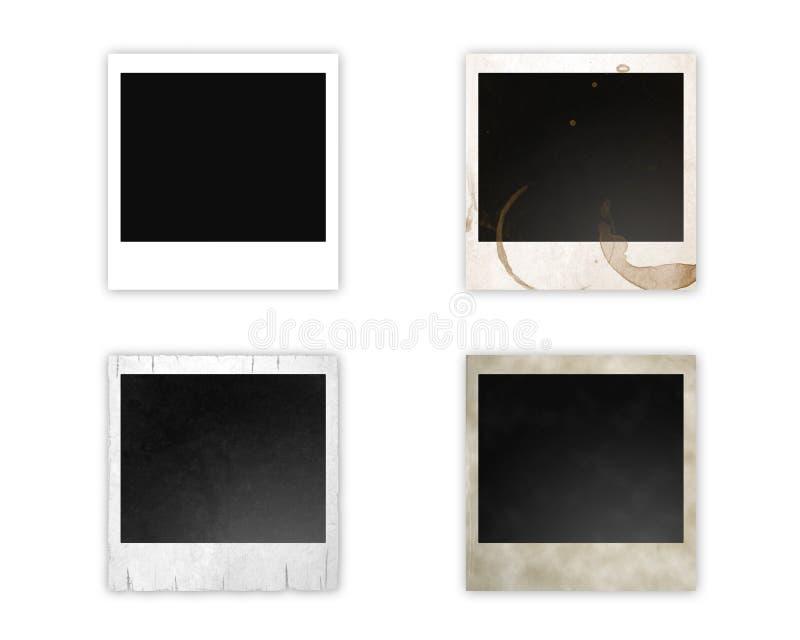 olika polaroids stock illustrationer