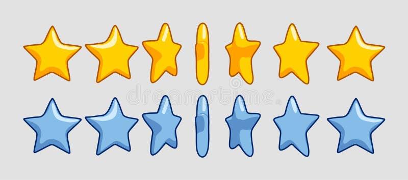Olika rotationsstjärnor vektor illustrationer