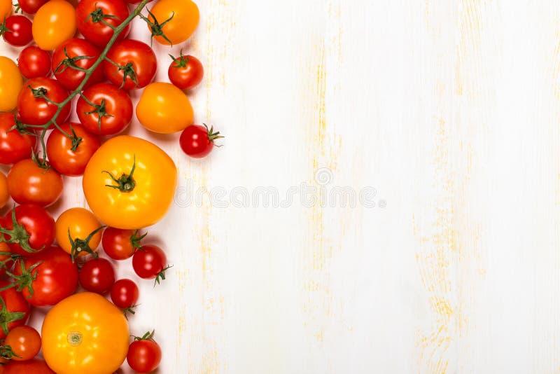 Olika sorter av nya tomater fotografering för bildbyråer